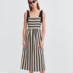 Striped Midi Dress Zara - NWT